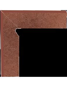 Paradyz Taurus Brown Cokol Schodowy Dwuelemtntowy Lewy 8,1x30