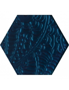 Paradyz Urban Colours Blue Inserto Szklane Heksagon 19,8 x17,1