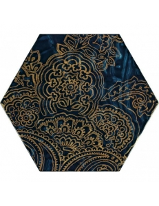 Paradyz Urban Colours Blue Inserto Szklane Heksagon B 19,8 x17,1