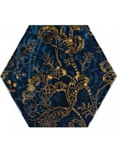 Paradyz Urban Colours Blue Inserto Szklane Heksagon C 19,8 x17,1