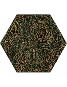 Paradyz Urban Colours Green Inserto Szklane Heksagon А 19,8 x17,1