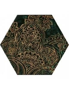 Paradyz Urban Colours Green Inserto Szklane Heksagon В 19,8 x17,1