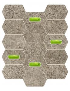 Tubadzin Lemon Stone Mozaika Scienna Grey 29,8x25