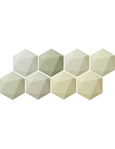 Tubadzin Origami green hex 11x12,5