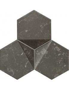 Tubadzin Scoria mozaika scienna black 19,2x16,5