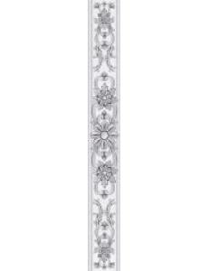 Бордюр Ivory вертикальный серый