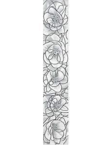 BRINA бордюр вертикальный серый / 40х7 БВ 23 071