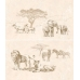 Плитка SAFARI декор-панно коричневый / П 73 031