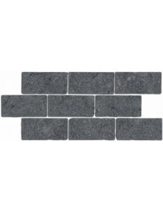 Бордюр Роверелла серый темный мозаичный