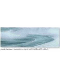 INSERTO SZKLANE MURANO Bianco A 25 x 75