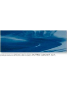 INSERTO SZKLANE MURANO Cobalto A 25 x 75