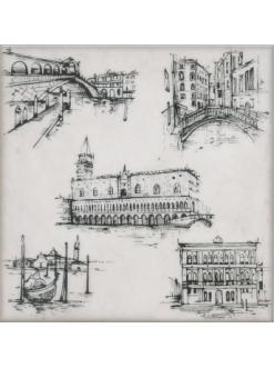 Декор Марчиана Venezia серый