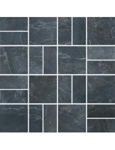 Декор Виндзор мозаичный темно-серый