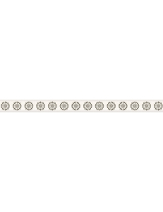 Piumetta Bianco LISTWA MURANO 2,3 x 29,5