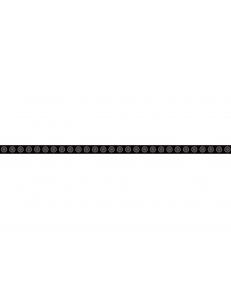 Piumetta Nero LISTWA SZKLANA 2,3 x 59,5