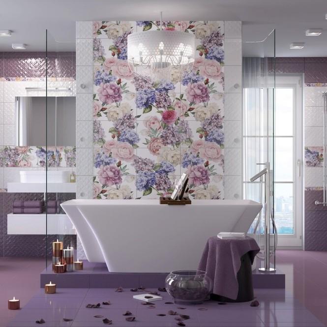 ванная комната фиолетового цвета